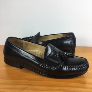 Cole Haan Dress Black tassel penny Loafers Mens 9E